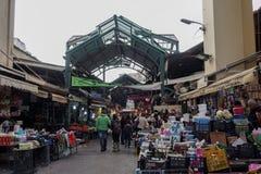 Saloniki, Grecja Vlali, Kapani środkowego rynku wejście - Zdjęcia Royalty Free