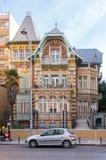 Saloniki, Griechenland - 16. Dezember 2017 - große alte Villa in Saloniki, Griechenland Lizenzfreies Stockbild