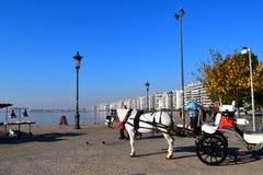 Saloniki, Griechenland - 28. Dezember 2015: Wagen mit Schimmel an Saloniki-Küstenlinie lizenzfreie stockfotografie