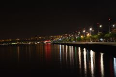 Saloniki nocą obrazy stock