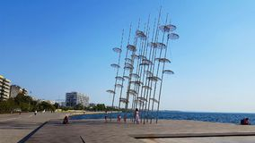Saloniki parasole instalacyjni zbiory wideo