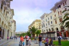 Saloniki-Quadrat Griechenland Stockbild