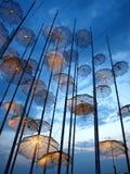 Saloniki-Regenschirme Stockfoto