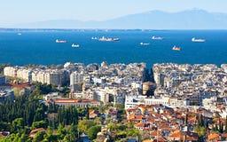 Saloniki von der Spitze lizenzfreies stockbild