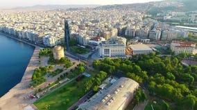 Saloniki widok z lotu ptaka zdjęcie wideo