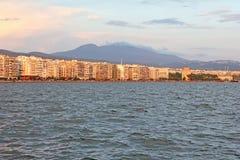 Salonique - coucher du soleil Photographie stock libre de droits