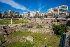 10 03 2018 Salonique, Grèce - lo de Bey Hamam de bain public de tabouret image stock