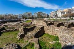 10 03 2018 Salonique, Grèce - lo de Bey Hamam de bain public de tabouret Image libre de droits