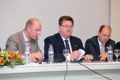 3ème Réunion de la présence Grec-Allemande Hans Joachim Fuchtel Image libre de droits
