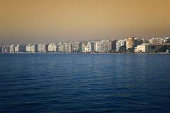 Salonique - une belle vue du bord de mer du ` s de ville Photo libre de droits