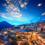Salons de thé de Hillside dans Jiufen, Taïwan images libres de droits