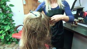 Salonu klienta włosy zdjęcie wideo