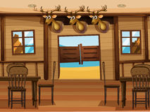 A saloon bar. Illustration of a saloon bar royalty free illustration