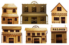 Saloon bars in the West. Illustration of the saloon bars in the West on a white background vector illustration