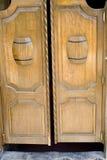 Saloon Doors. With Beer Barrels Stock Photos