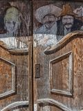 Saloon doors, New Mexico. Unusual saloon doors, historic New Mexico town stock photo