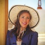 A Saloon Girl of Old Tucson, Tucson, Arizona Stock Image