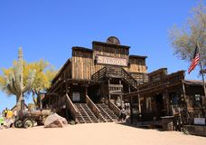 Saloon at Goldfield Ghost Town stock photography