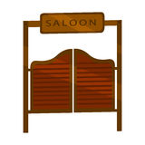 Saloon icon cartoon. Singe western icon from the wild west set. Royalty Free Stock Photo