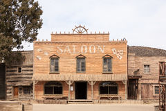 Saloon in an old american western town royalty free stock photos