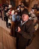 Saloon Patrons Pointing Guns Stock Photos