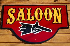 Saloon sign Royalty Free Stock Photography