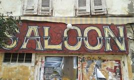 Saloon. Sign. Heraklion. Crete. Greece Stock Image