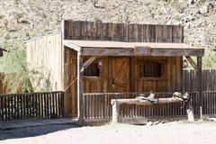 Saloon style wood building. In Grand Canyon ranch Stock Photos