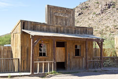 Saloon style wood building. In Grand Canyon ranch stock photography