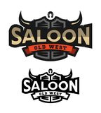 Saloon, tavern, wild west logo, emblem. Saloon, tavern, wild west logo emblem Vector illustration Royalty Free Stock Photography