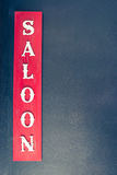 Saloon,Vintage western style typeface Royalty Free Stock Images