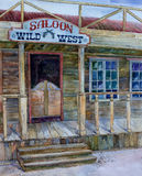 Saloon wild west in a retro style Royalty Free Stock Photography