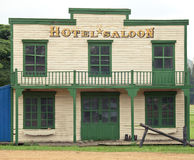 Saloon in Wild West style. Saloon and hotel in Wild West style stock images