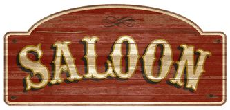 Saloon Wooden Sign Vintage Retro Old West. Cattlemen Dodge city Western style weathered vector illustration