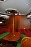 Saloon of yacht Royalty Free Stock Image