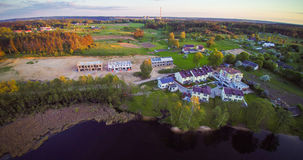 Salote lake, Pilaite aerial view Royalty Free Stock Images