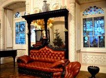 Salotto decorato di un palazzo Fotografia Stock