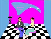 Salotto del Martini negli anni 50 Immagini Stock