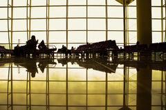 Salotto dell'aeroporto fotografie stock