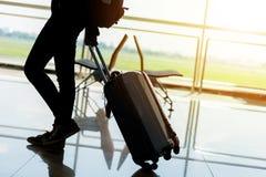 Salotto di partenza all'aeroporto Fotografie Stock Libere da Diritti