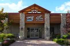 Salotto e ristorante alla Buffalo Bill Village di Holiday Inn Fotografia Stock