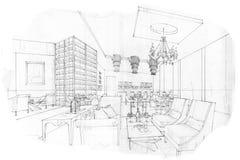 ... , interior design in bianco e nero Fotografie Stock Libere da Diritti