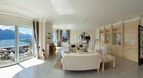 Salotto interno e comodo Fotografia Stock