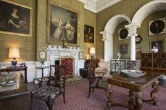 Salotto - proprietà terriera Yorkshire - Inghilterra di casa Immagine Stock