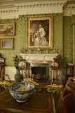 Salotto in una bella casa di campagna vicino a Leeds West Yorkshire che non è una proprietà di fiducia nazionale Fotografie Stock
