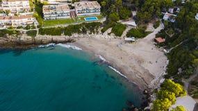 Salou, пляж Dorada Косты Гостиницы и курорты Назначение перемещения в Испании стоковая фотография
