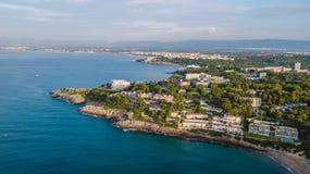 Salou, пляж Dorada Косты - назначение перемещения в Испании стоковые изображения rf