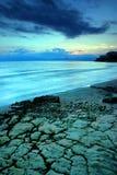 Salou. Beautiful sunset in Salou, Spain Stock Images