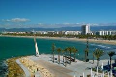 Salou - Ansicht der Küste Lizenzfreie Stockfotos