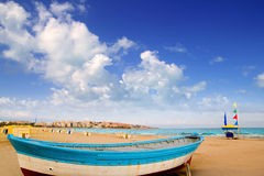 Salou beach in Tarragona Catalonia Spain. At Mediterranean Stock Image